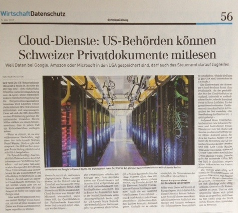 Cloud-Dienste Sicherheit